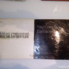 Discos de vinilo: 2 LP KING CRIMSON - STARLESS AND BIBLE BLACK + EARTHBOUND. Lote 131780978