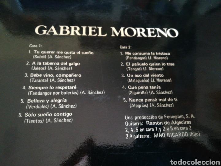 Discos de vinilo: Gabriel moreno lp 1974 - Foto 2 - 131797902