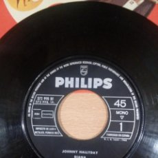 Discos de vinilo: RARO JOHNNY HALLYDAY -DIANA -MAYBELLINE - SIN PORTADA SÓLO DISCO -EDICIÓN ESPAÑA -BUEN ESTADO - VER. Lote 131832390