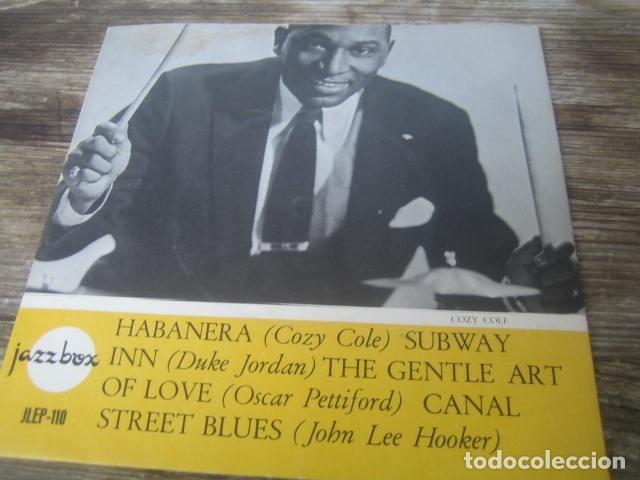 VVAA - JAZZBOX ******** RARO EP SUECO COZY COLE - DUKE JORDAN- JOHN LEE HOOKER - OSCAR PETTIFORD (Música - Discos de Vinilo - EPs - Jazz, Jazz-Rock, Blues y R&B)