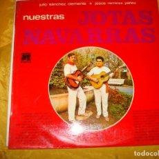 Discos de vinilo: NUESTRAS JOTAS NAVARRAS. JUIO SANCHEZ CLEMENTE / JESUS REMIREZ YAÑEZ. CAUDAL, 1976 . IMPECABLE. Lote 131855050