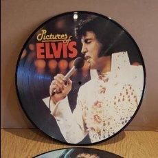 Discos de vinilo: SOLO PARA DECORACIÓN !! ELVIS PRESLEY / 2 PICTURE DISC PARA ENMARCAR O GOLGAR / RAYADOS.. Lote 131899094