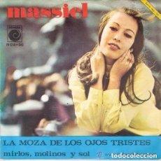 Discos de vinilo: MASSIEL– LA MOZA DE LOS OJOS TRISTES - SINGLE SPAIN 1967. Lote 131899534