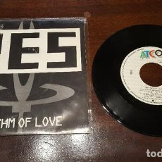 Discos de vinilo: SINGLE - YES - RHYTHM OF LOVE - SINGLE PROMOCIONAL - PROMO VINILO DEL ALBUM BIG GENERATOR 1987. Lote 131919706