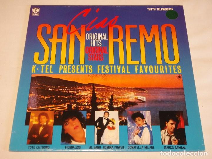 CIAO SAN REMO ( ORIGINAL HITS - VARIOS INTERPRETES ) 1984 - FINLANDIA LP33 K-TEL (Música - Discos - LP Vinilo - Otros Festivales de la Canción)