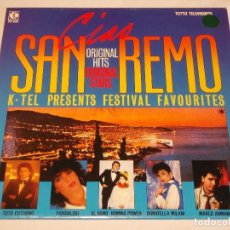 Discos de vinilo: CIAO SAN REMO ( ORIGINAL HITS - VARIOS INTERPRETES ) 1984 - FINLANDIA LP33 K-TEL . Lote 131945894