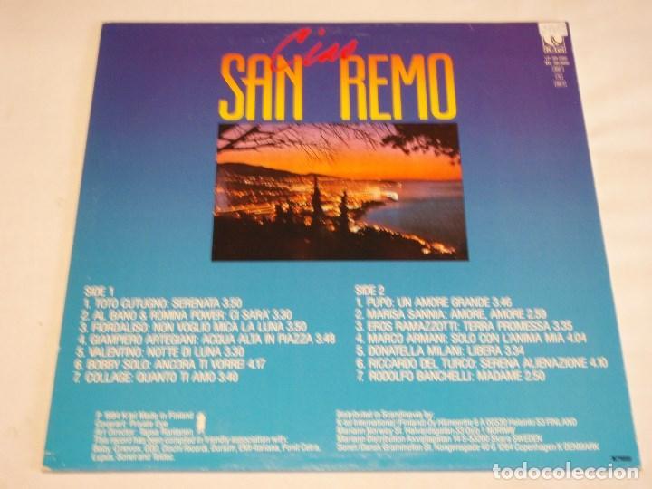 Discos de vinilo: CIAO SAN REMO ( ORIGINAL HITS - VARIOS INTERPRETES ) 1984 - FINLANDIA LP33 K-TEL - Foto 2 - 131945894