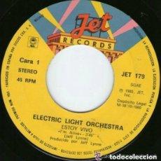 Discos de vinilo: ELECTRIC LIGHT ORCHESTRA – ESTOY VIVO / SUEÑOS DE TAMBORES - SINGLE 1980 (SOLO DISCO). Lote 131997138