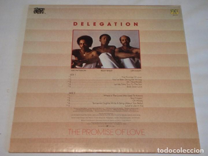 Discos de vinilo: DELEGATION ( THE PROMISE OF LOVE ) USA-1977 LP33 STATE RECORDS - Foto 2 - 131986902