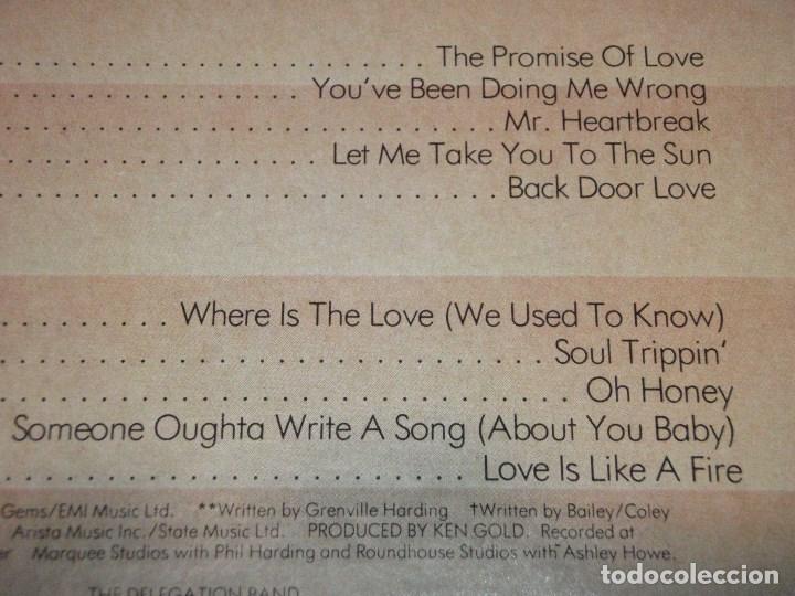 Discos de vinilo: DELEGATION ( THE PROMISE OF LOVE ) USA-1977 LP33 STATE RECORDS - Foto 3 - 131986902