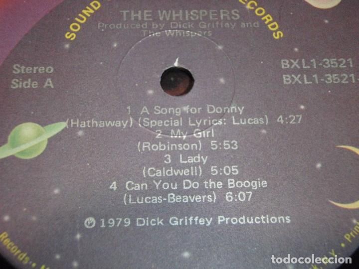 Discos de vinilo: THE WHISPERS - THE WHISPERS USA - 1979 LP SOLAR RECORDS - Foto 3 - 131992258