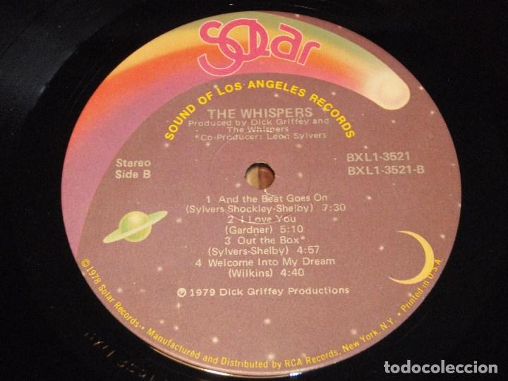Discos de vinilo: THE WHISPERS - THE WHISPERS USA - 1979 LP SOLAR RECORDS - Foto 5 - 131992258