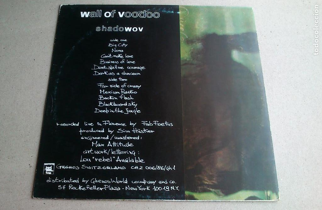 Discos de vinilo: WALL OF VOODOO - SHADOWOV - LP - 1986 - Foto 6 - 132016146
