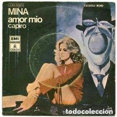 Discos de vinilo: MINA - AMOR MIO + CAPIRO - SINGLE SPAIN 1971. Lote 287836938