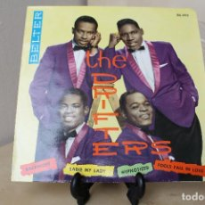 Discos de vinilo: THE DRIFTERS -EP- HYPNOTIZED - FOOLS FALL IN LOVE - SADIE MY LADIE - BALTIMORE- BELTER 1960. Lote 132028422