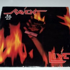 Discos de vinilo: RAVEN - LIVE AT THE INFERNO - DOBLE LP. Lote 132039350