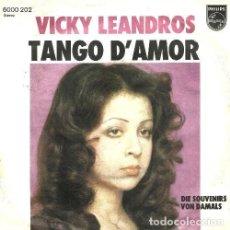 Discos de vinilo: VICKY LEANDROS. TANGO D'AMOR. SINGLE. VINILO.. Lote 132046366