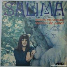 Discos de vinilo: SINGLE - SALIMA - JUNTOS EN VERANO / SUEÑOS DE AMOR - PRESA SN-20.408 - 1970. Lote 132063030