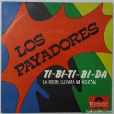 Discos de vinilo: SINGLE - LOS PAYADORES - TI-BI-TI-BI-DA / LA NOCHE LLEVARA MI MELODIA - POLYDOR 80.020 - 1968. Lote 132069494