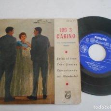 Discos de vinilo: LOS 3 CARINOS-EP SALIO EL TREN +3. Lote 132072762
