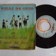Discos de vinilo: SINGLE EL RELOJ DE CUCO EN NO VI BRILLAR EL SOL & WAIT FOR LOVE. Lote 132073706
