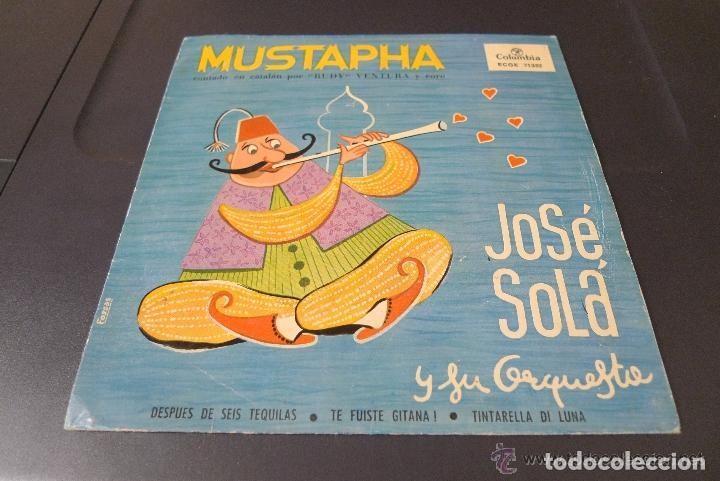 MUSTAPHA: RUDY VENTURA CANTA EN CATALAN 1960 BUEN ESTADO (Música - Discos de Vinilo - Maxi Singles - Solistas Españoles de los 50 y 60)