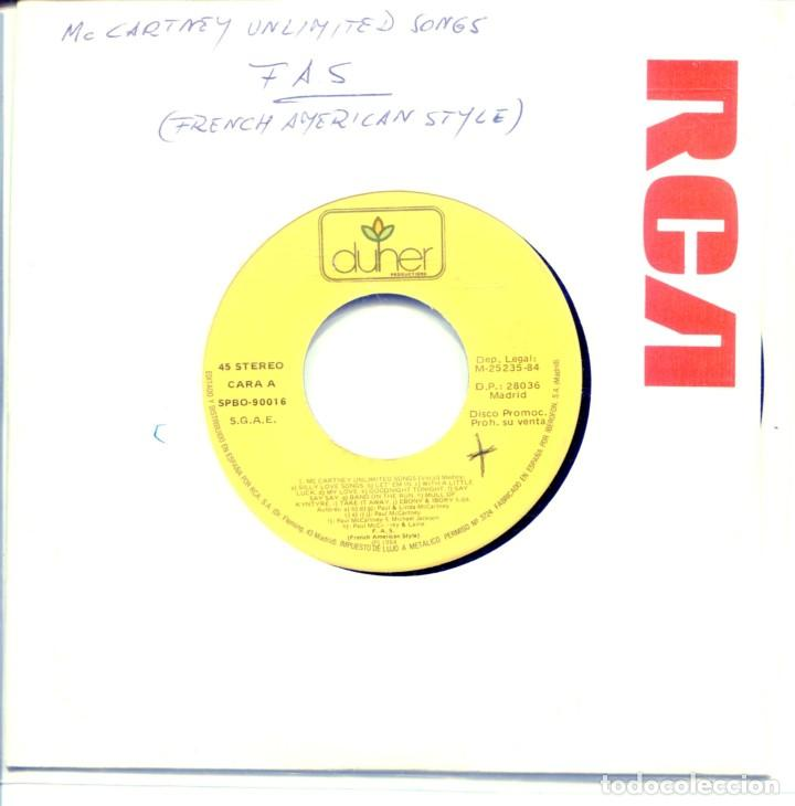 FRENCH AMERICAN STYLE (MCCARTNEY UNLIMITED SONGS) SINGLE PROMO 1984