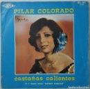 Discos de vinilo: SINGLE - PILAR COLORADO - CASTAÑAS CALIENTES / LA TANGUISTA - FASER ML-201 - 1978- INCLUYE PARTITURA. Lote 132098494