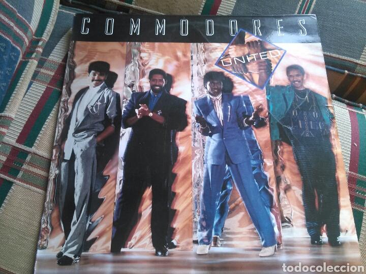 COMMODORES LP UNITED 1986 CON ENCARTE (Música - Discos - LP Vinilo - Funk, Soul y Black Music)