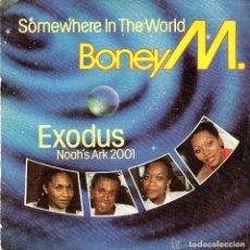 Discos de vinilo: BONEY M. ( EXODUS / SOMEWHERE IN THE WORLD ) SINGLE PROMO SPAIN 1984 . Lote 132104726