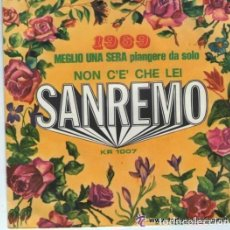 Disques de vinyle: GIAMPAOLO – MEGLIO UNA SERA PIANGERE DA SOLO / NON C'E' CHE LEI - SINGLE ITALY SANREMO 1969. Lote 132117130