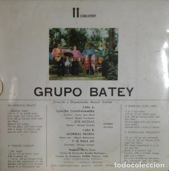 Discos de vinilo: Grupo Batey – Serie Havana Club El Ron De Cuba (Cuba, sin fecha) - Foto 2 - 132119710