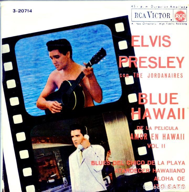 ELVIS PRESLEY & THE JORDANIERES (BANDA SONORA DE BLUE HAWAII) EP 1963 (Música - Discos de Vinilo - EPs - Pop - Rock Extranjero de los 50 y 60)