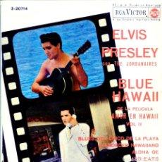 Discos de vinilo: ELVIS PRESLEY & THE JORDANIERES (BANDA SONORA DE BLUE HAWAII) EP 1963. Lote 132127978