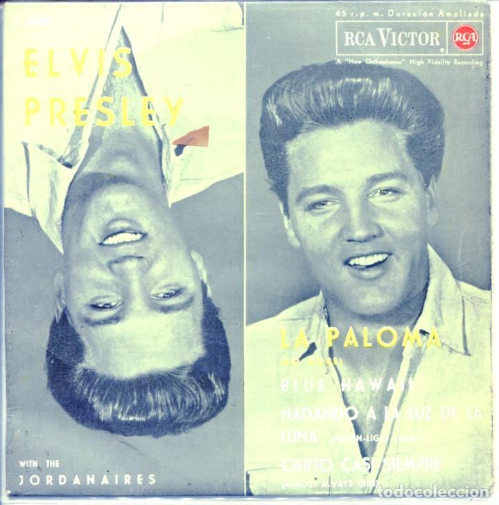 ELVIS PRESLEY WITH THE JORDANAIRES / LA PALOMO + 3 (EP 1962) (Música - Discos de Vinilo - EPs - Pop - Rock Extranjero de los 50 y 60)