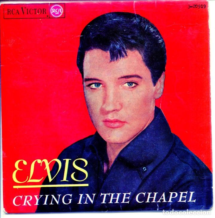 Discos de vinilo: ELVIS PRESLEY / CRYING IN YHE CHAPEL / IN MY FATHERS HOUSE + 2 (EP 1965) - Foto 1 - 132128274