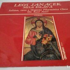 Discos de vinilo: MISA ESLAVA-LEOS JANACEK-FILARMONICA CHECA-KAREL ANCERL-DISCOPHON/RELIGION/ M RELIGIOSA/. Lote 132128946
