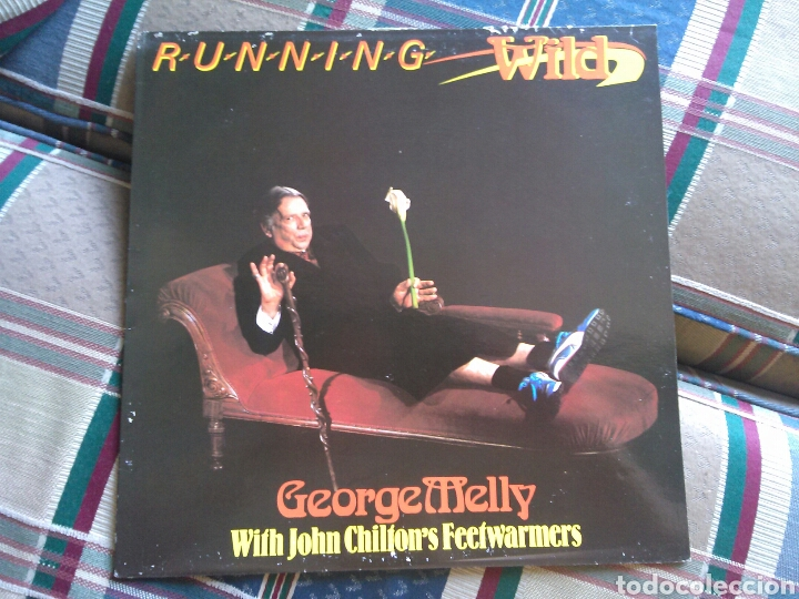 GEORGE MELLY WITH JOHN CHILTON'S FEETWARMERS LP RUNNING WILD 1986 JAZZ BIZARRE (Música - Discos - LP Vinilo - Jazz, Jazz-Rock, Blues y R&B)