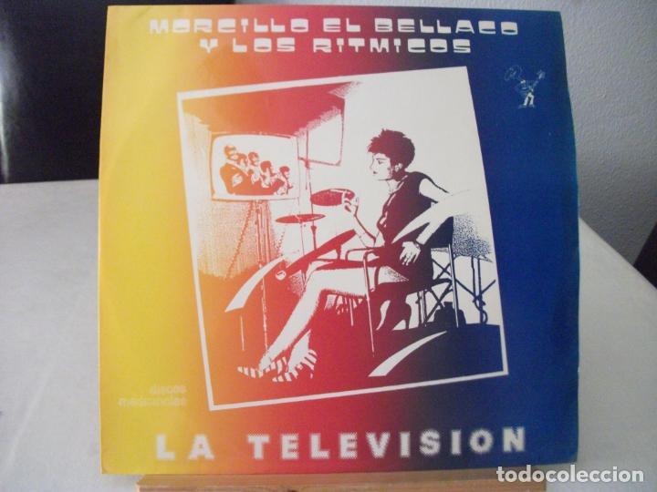 MAXI SINGLE DE MORCILLO EL BELLACO Y LOS RITMICOS , LA TELEVISIÓN + 2 (AÑO 1984), PROMOCIONAL (Música - Discos de Vinilo - Maxi Singles - Punk - Hard Core)