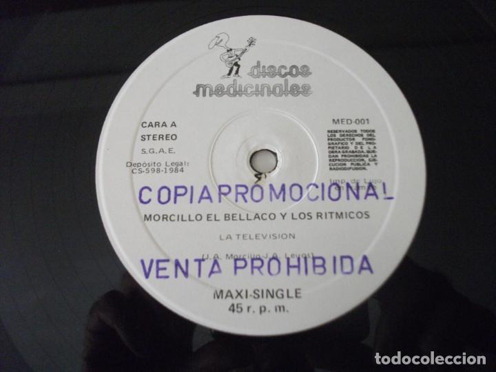 Discos de vinilo: MAXI SINGLE DE MORCILLO EL BELLACO Y LOS RITMICOS , LA TELEVISIÓN + 2 (AÑO 1984), PROMOCIONAL - Foto 3 - 132137758