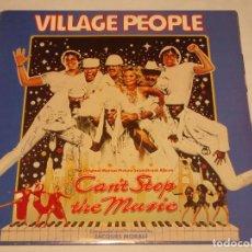 Discos de vinilo: VILLAGE PEOPLE & DAVID LONDON & THE RITCHIE FAMILY ( CAN'T STOP THE MUSIC ) 1980-SWEDEN LP33 K-TEL. Lote 132139118