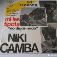 Discos de vinilo: NIKI CAMBA - FESTIVAL MEDITERRANEA 65, EP, MI LES TIPOTA + 3, AÑO 1965. Lote 132144342
