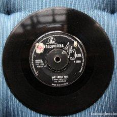 Discos de vinilo: BEATLES. SHE LOVES YOU. INGLATERRA 1963. Lote 132144970