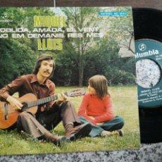 Discos de vinilo: MIQUEL LLUÍS SINGLE OBLIDA,AMADA,EL VENT 1976. Lote 132148226