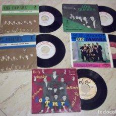 Discos de vinilo: LOS TAMARA-LOTE DOS EP MAS TRES SINGLES PROMOCIONALES. Lote 132165158