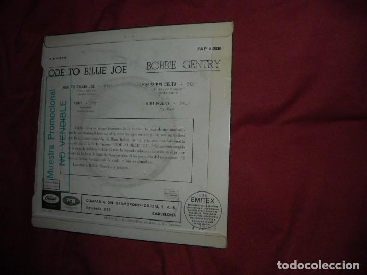 Discos de vinilo: BOBBIE GENTRY EP ... ODE TO BILLIE JOE + 3 / CAPITOL - MUESTRA PROMOCION AÑO 1967 SPA - Foto 2 - 132165998
