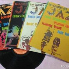 Discos de vinilo: LOS GRANDES DEL JAZZ LOTE 4 LPS VINILOS MADE IN SPAIN SARPE. Lote 132167026
