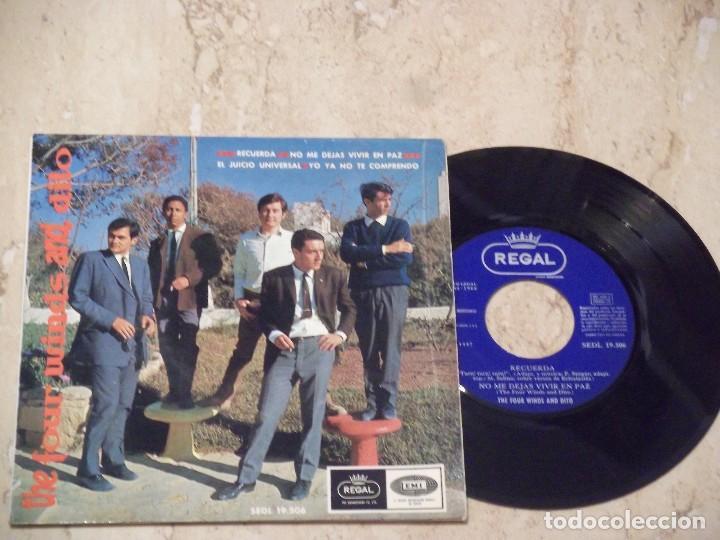 THE FOUR WINDS AND DITO RECUERDA + 3 EP FREAKBEAT HAMMOND SPAIN EMI1966 EXCELENTE (Música - Discos de Vinilo - EPs - Grupos Españoles 50 y 60)
