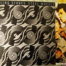 Discos de vinilo: TER ROLLING STONES STEEL WHEELS 1989 VINILO LP EXCELENTE. Lote 132171258