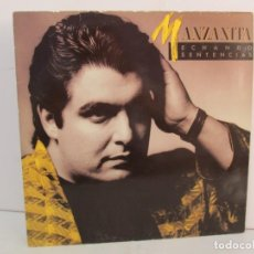 Discos de vinilo: MANZANITA. ECHANDO SENTENCIAS. LP VINILO. RCCA. 1986. VER FOTOGRAFIAS ADJUNTAS. Lote 132179702